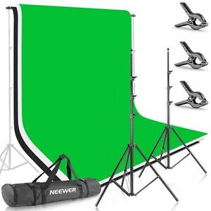 Photo Studio Video Backdrop Kit Stand Support Écran Toile 2012