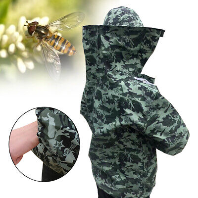 Camouflage Beekeeping Clothing With Hood Anti Bee Protective Suit Home Supplies