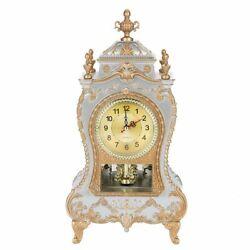 Vintage Retro Classic Plastic Table Clock Antique Home Hotel Decorative Alarm