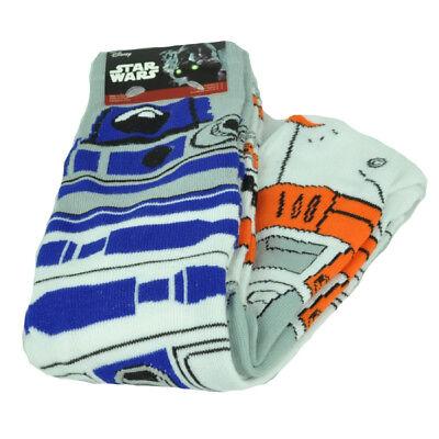 Disney Star Wars Bb 8 Droid R2 D2 Long 2 Pairs Mens Shoe Size 6 12 Robots Socks