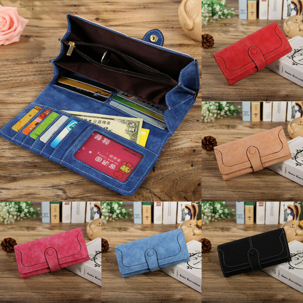 Fashion Women's Leather Wallet Credit Card Holder Bifold Lon
