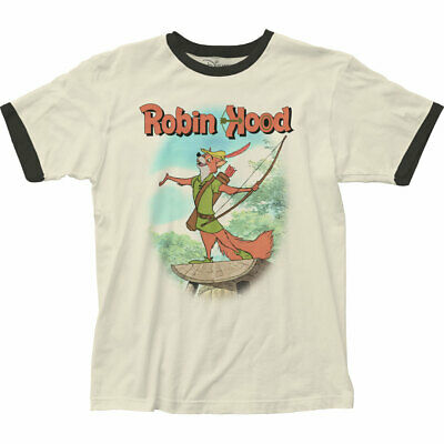 Disney Adult Movie (Authentic Disney's Robin Hood Movie Adult Soft Ringer T-shirt S M L X 2X top)