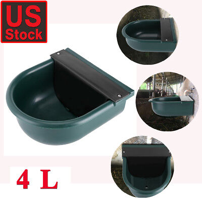 Automatic Pet Waterer Outdoor Cat Water Dispenser Auto Dog Bowl Dish Supplies US