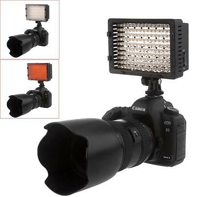 160 LED Video Light Lamp Panel Dimmable for Canon Nikon DSLR Camera 12W 1280LM