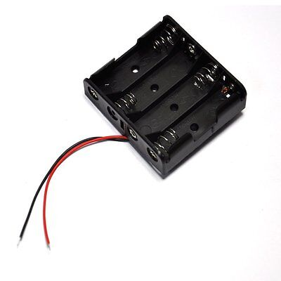 2pcs Plastic Battery Storage Case Box Holder For 4 X Aa 4xaa 2a 6.0v Wire Leads