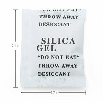 60 Packs 5 G Grams Silica Gel Desiccant Packets Moisture Absorber Us Seller