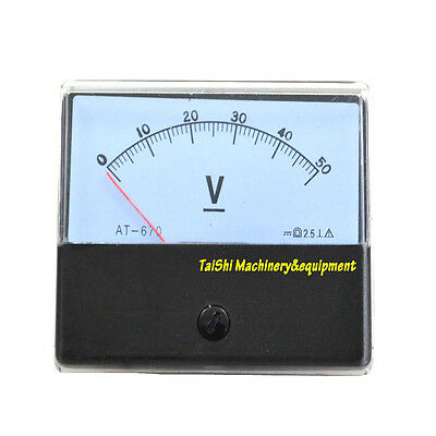 New Dc 0-50v Analog Volt Voltage Voltmeter Panel Meter