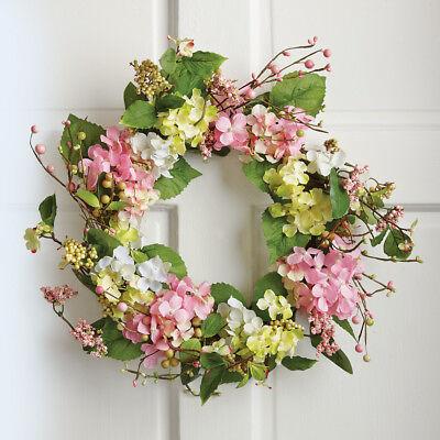 Spring Floral Hydrangea Door Wreath, by Collections Etc