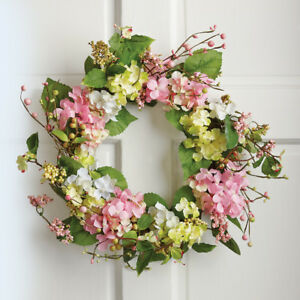Spring Floral Hydrangea Door Wreath, by Collections Etc