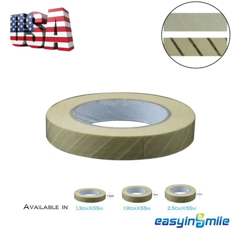1x EASYINSMILE Dental Steam Indicator Tape Lead/Latex-Free 13 /19 /25MM 60 Yard