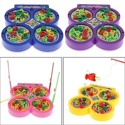 Electric Rotating Magnet Fish Fishing Pretend Game Children Educational Toy BSET (Fishing Toys)