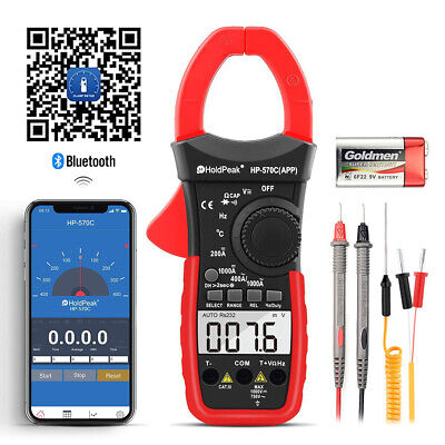Holdpeak Digital Clamp Meter Multimeter Autorange Cap Diode Backlite Hp-570c-app