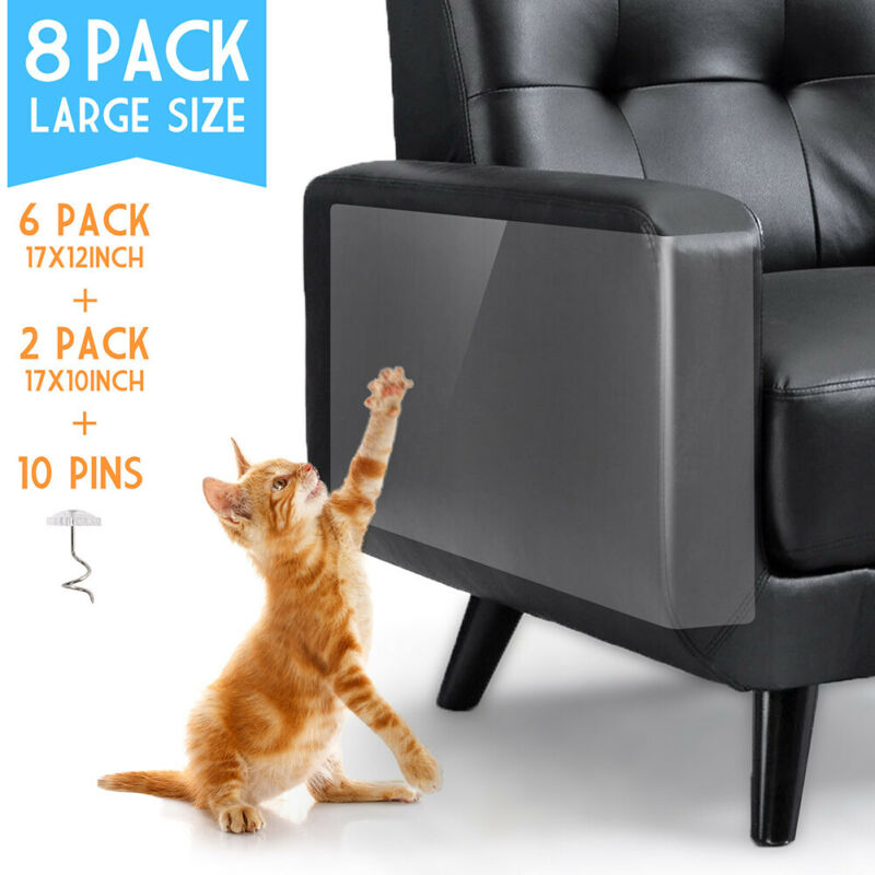 8PC Cat Furniture Scratch Guards Couch Protector Anti-Scratch Deterrent Pad Tape