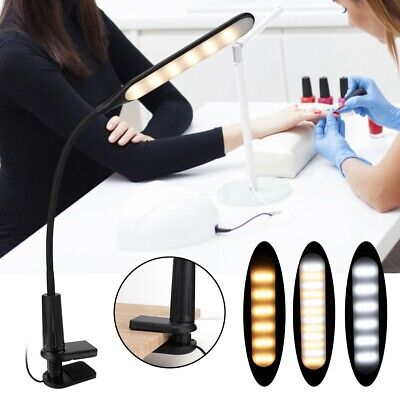 LED USB Eye-Caring Nail Art Desk Table Lamp Clip-On Lamp for Reading Manicure
