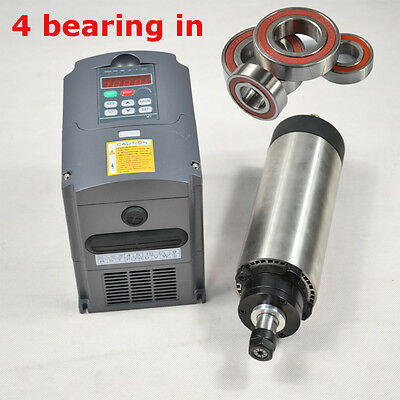 Four Bearing Er11 1.5kw Air-coole Spindle Motor And Matching Inverter Cnc
