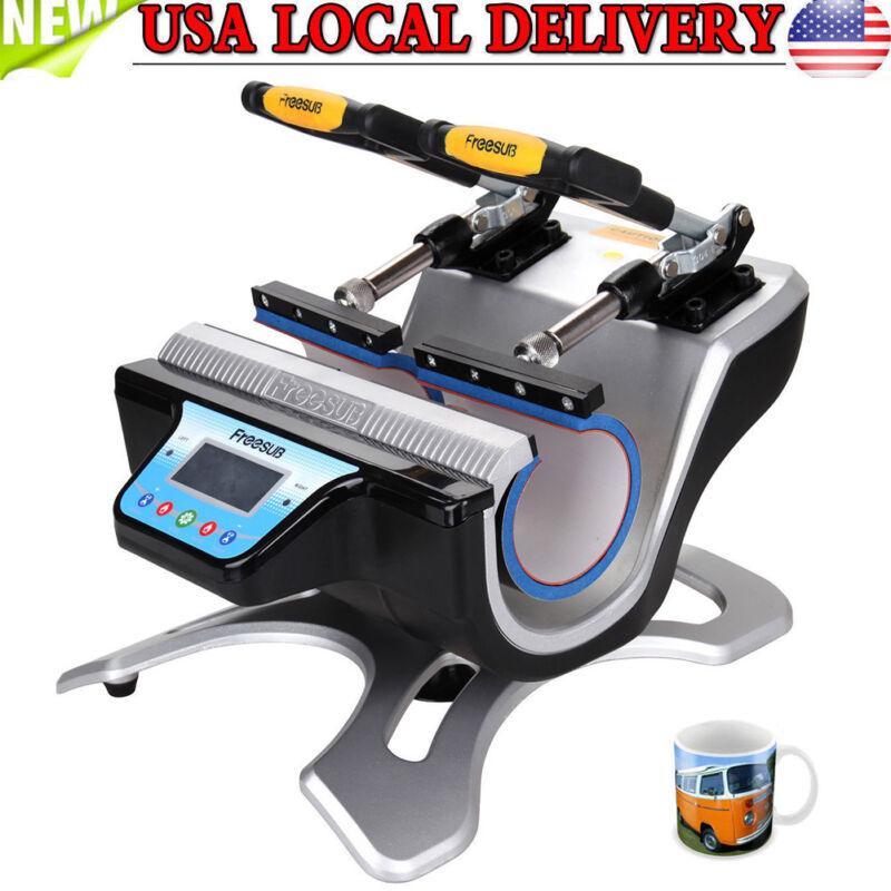 US Double Station Mug Cup Heat Press Machine Sublimation For 10OZ 11OZ 15OZ 17OZ