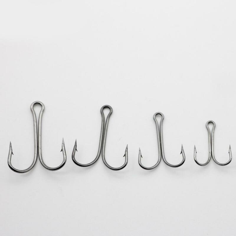 50pcs Strong Double Hook Saltwater High Carbon Steel Frog Toad Fish Hook 8#1#/'//