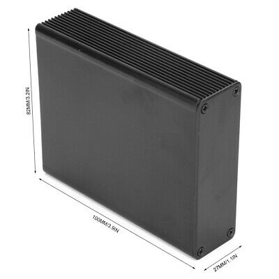 Aluminum Enclosure Electronic Project Case Black Circuit Board Instrument Box