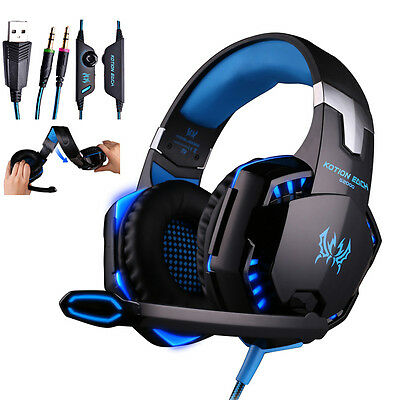 G2000 3.5mm Stereo HiFi Music Gaming Headset Headphone Earphone With Mic for PC