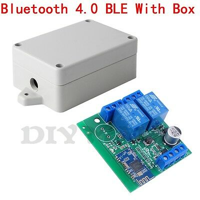2 Channel Relay Module Bluetooth 4.0 Ble For Apple Android Ios App Iot With Box