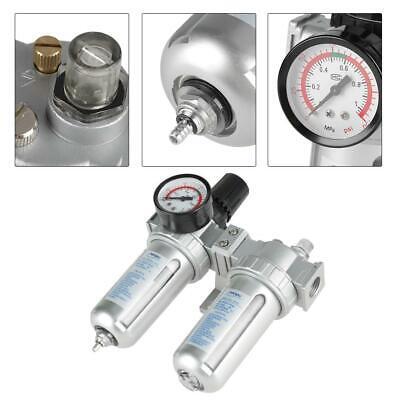 12 Air Compressor Oil Water Filter Separator Trap Tools With Regulator Gauge