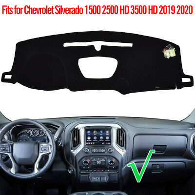 Fits Chevrolet Silverado 1500 2500 HD 3500 HD 2019 2020 Dash Cover Mat / Black