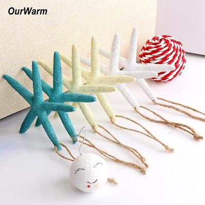 50× Artificial Finger Starfish Coastal Christma Tree Beach Wedding DIY Decor](Beach Christmas Decorations)