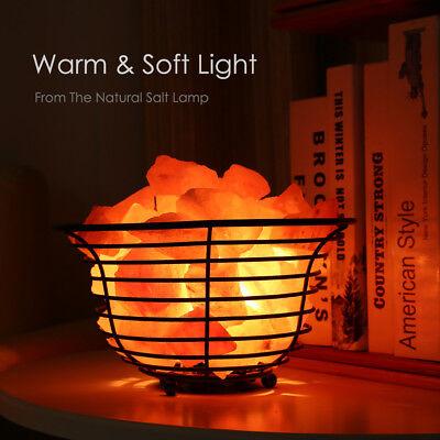 Natural Metal - SMAGREHO Natural Air Purifying Himalayan Salt Metal Basket Bowl Lamp