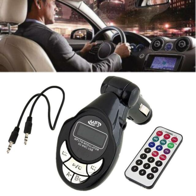 4 in1 Car MP3 Player Wireless FM Transmitter Modulator USB SD CD MMC Remote 0s0s