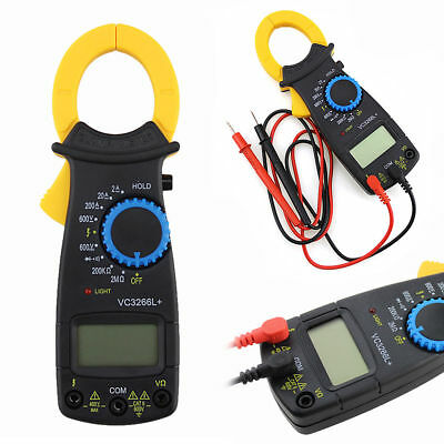 Digital Clamp Multimeter Ac Dc Volt Voltage Amp Ohm Electronic Tester Meter