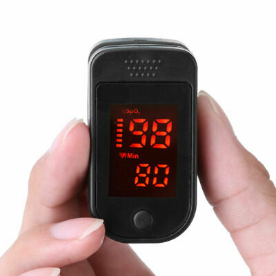 Fingertip Pulse Oximeter Spo2 Pr Blood Oxygen Meter Monitor Black Fast Shipping