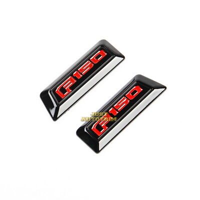 Black dashboard side red emblem Cover trims fit 2016-2017 Ford F150 Accessories