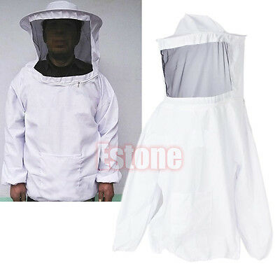 Beekeeping Jacket Veil Bee Keeping Suit Hat Pull Over Smock Protective Equipment