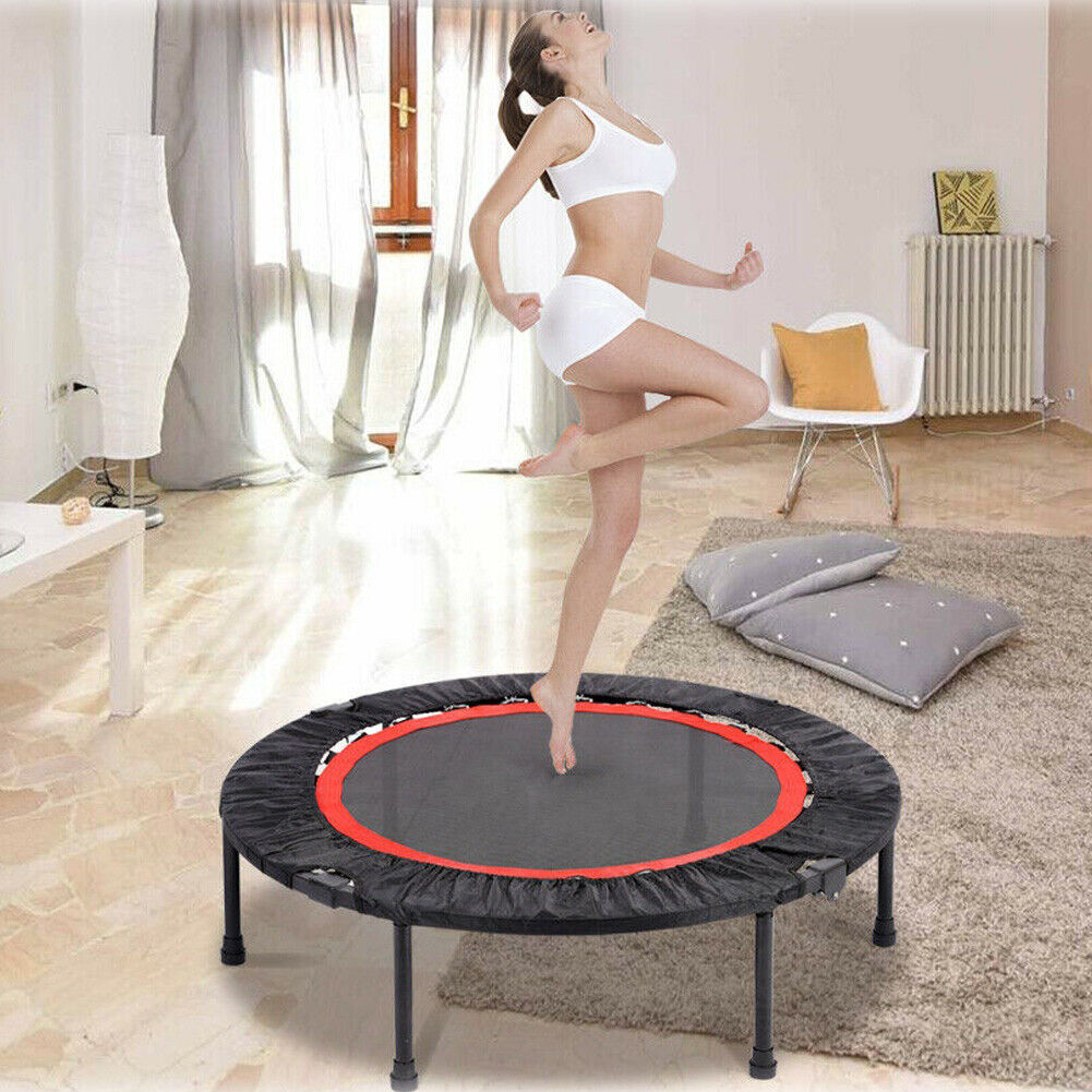 40'' Mini Fitness Trampoline Home Gym Fun Exercise Rebounder