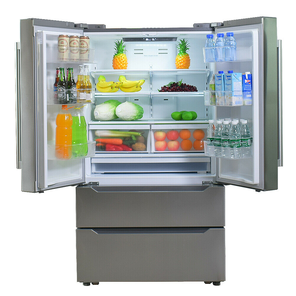 36 Inch Counter Depth French Door Refrigerator With Ice Make