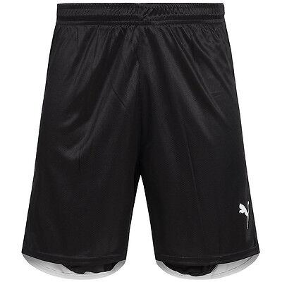 PUMA Fußball Shorts Herren Sport Fitness Kordelzug 700258-01 schwarz Gr. XS neu