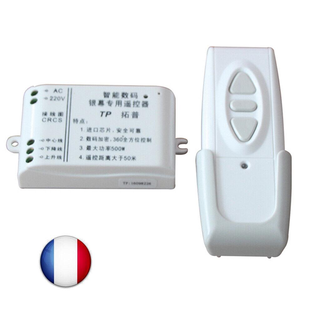 TÉLÉCOMMANDE Radio Sans Fil RÉCEPTEUR pour Volet Roulant Store Banne AC 220V