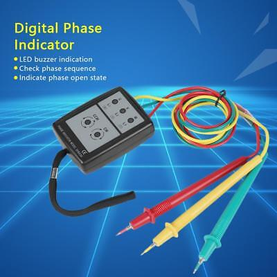 Sp8030 Digital Phase Rotation Indicator Led Buzzer Phase Sequence Meter Ss