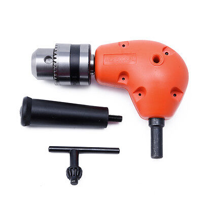 New 38 Grip Right Angle Drill Attachment 90 Degree Handle Key Chuck Adapter