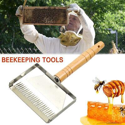 Honey Extractor Scraper Honey Cutter Wooden Handle Beehive Bee-keeping Tools