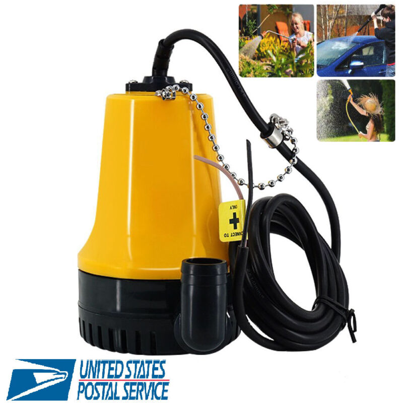 DC 12V Submersible Electric Water Pump 1620GPH Clean Dirty Pond Flood 6000L/H US