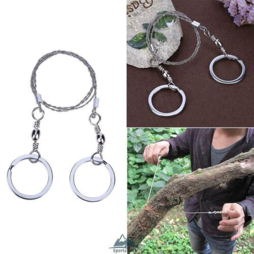 2pc Portable Hand Wire Saw Wilderness Emergency Survival Camping Pocket Tool