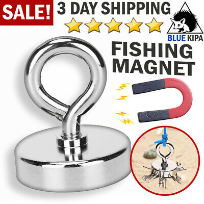 Fishing Magnet Neodymium Super Pull Force Hook Retrieving Treasure Hunt Collect