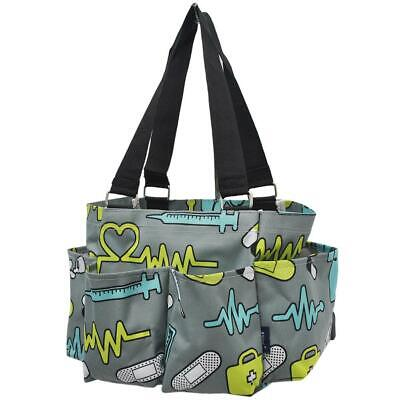 Small Canvas Tote (Nurse Doctor NGIL Small Zippered canvas purse Caddy Organizer Tote Bag Free)