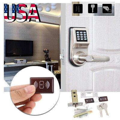 4-in-1 Digital Electronic/Code Keyless Keypad Security Entry Door Lock RF -