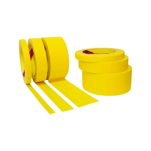 JMI Yellow Painters Tape for Car Paint - Assorted Size Automotive Masking Tape
