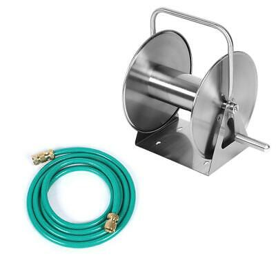 Durable steel Washer Metal Roll Hose Reel With 1/2in Quick Connector Floor Wall