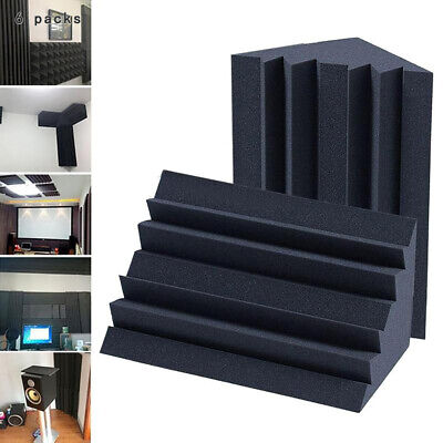 6pcs Soundproofing Foam Acoustic Bass Trap Corner Absorbers for Studio Room New