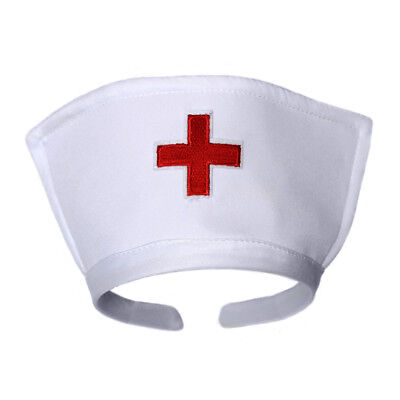 Costume With Red Dress (White Nurse Hat Headband with Red Cross ~ HALLOWEEN NURSE COSTUME PARTY DRESS)