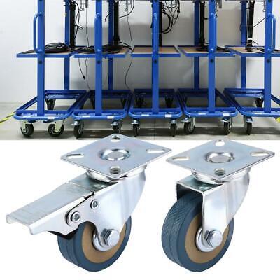 4 Heavy Duty Caster Set 2 Wheels All Swivel All Brake Casters Non Skid No Mark